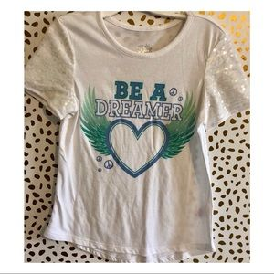 NWOT Be a dreamer justice top.
